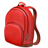 backpack emoji