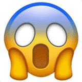 face-screaming-in-fear emoji