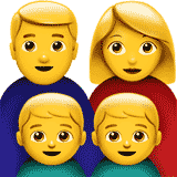 family-man-woman-boy-boy emoji