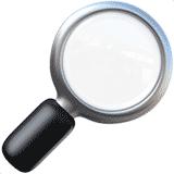 magnifying-glass-tilted-left emoji