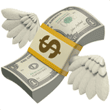 money-with-wings emoji