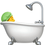 person-taking-bath emoji
