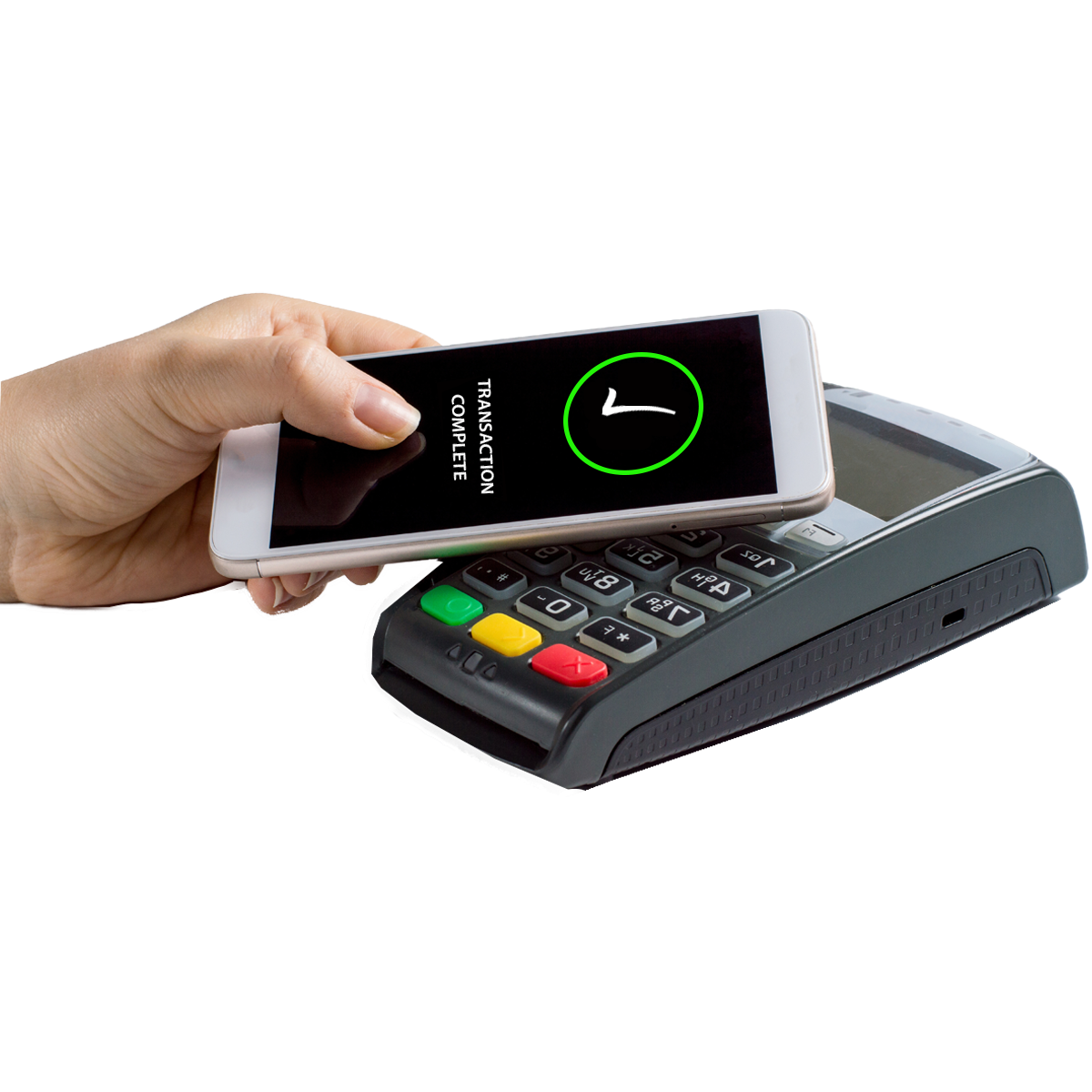 paying use mobile phone at a card reader
