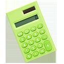 small green calculator