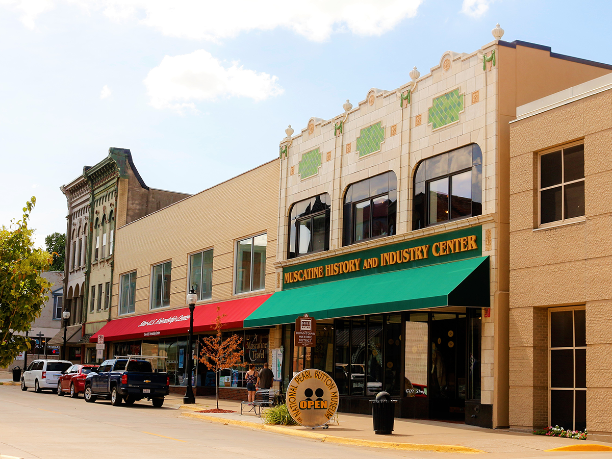 downtown store front buildings