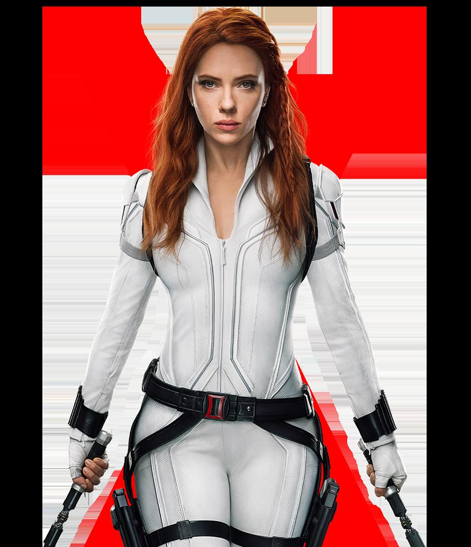 scarlett johansen as black widow white winter suit