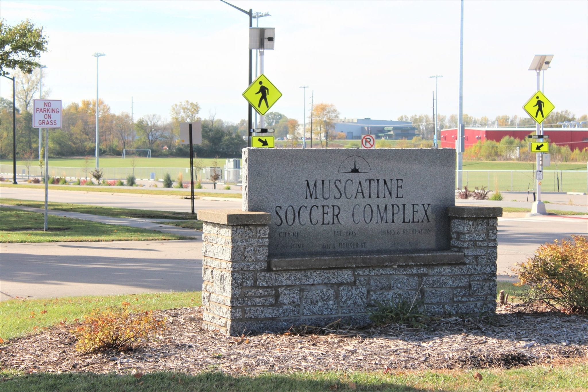 muscatine soccer complex sign