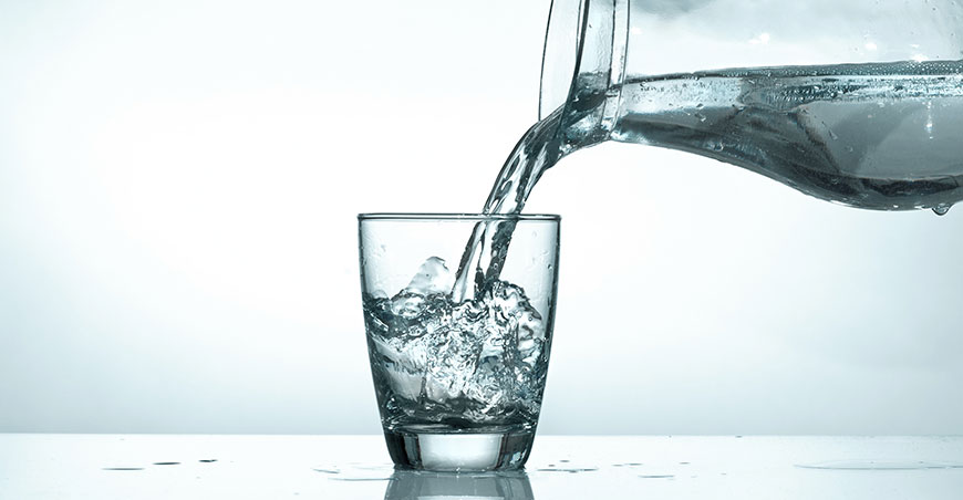 pitcher of chilled water